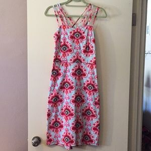 Fun blue pink red dress. Size 8